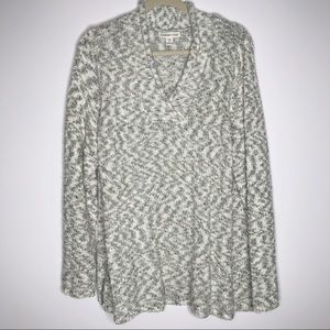 Coldwater Creek knit long sleeve sweater vneck